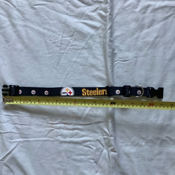 Other - STEELERS large dog collar